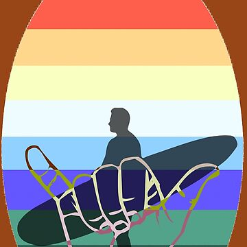 Retro Colors, Hang Loose Surfer Design by Atkisson