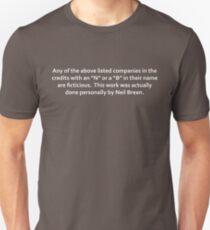 Neil Breen Credits Unisex T-Shirt