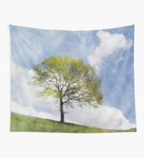 Tree in Spring Wall Tapestry