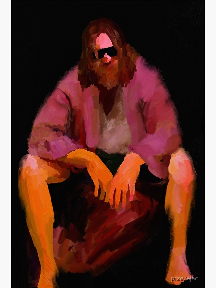 Dude from Big Lebowski – painting by przezajac