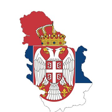 serbia map by Ecove