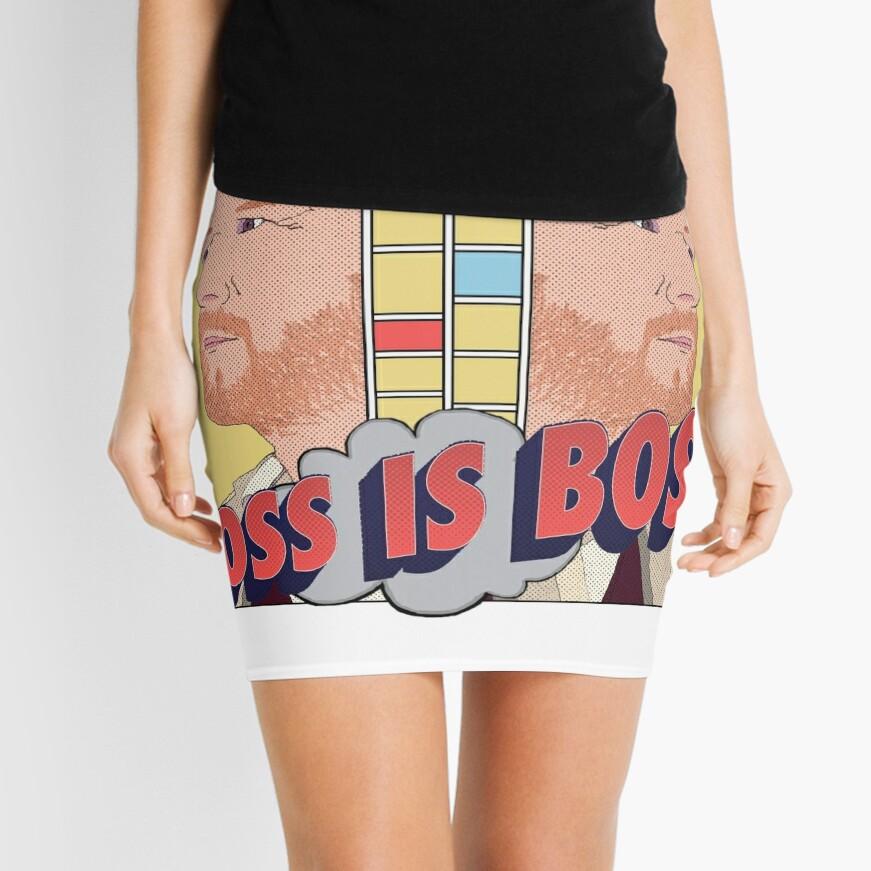 Joss is Boss  Mini Skirt Front
