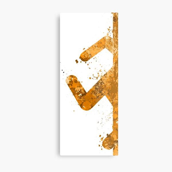 Portal - Orange Half (Lite) Metal Print