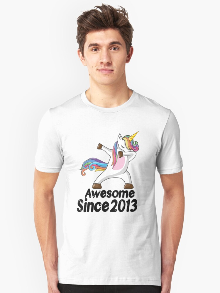 Unicorn Dabbing Awesome Since 2013 T Shirt 5th Birthday Gifts Unisex By Kelvil