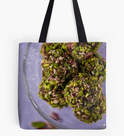 Chocolate truffles with balsamico and pistachio nuts  Tote Bag