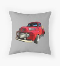 Red Truck from the 1940's Throw Pillow