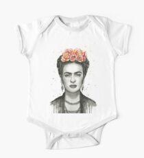 Frida Kahlo Porträt Kurzärmeliger Einteiler