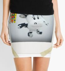 Cow on Wire Mini Skirt