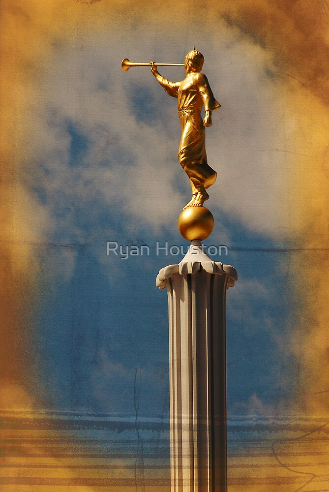 Quot Provo Lds Temple Angel Moroni Quot By Ryan Houston Redbubble