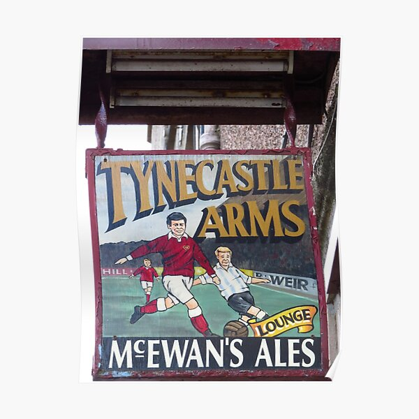 Tynecastle Arms Pub Sign, Edinburgh Poster