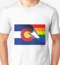 Colorado Flag LGBTQ Pride Rainbow Unisex T-Shirt