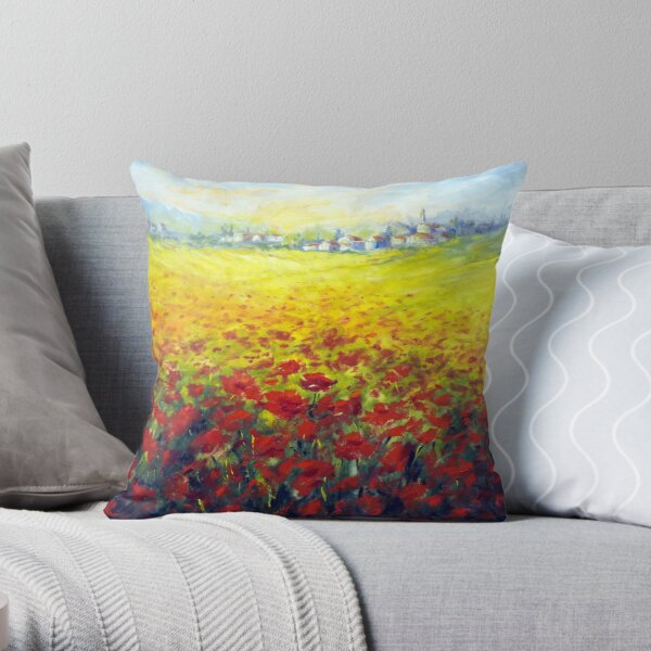 Tuscan field Throw Pillow