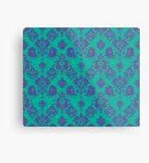 Lavender Vintage Damask Pattern Metal Print