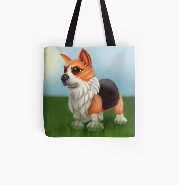 Corgi Pup All Over Print Tote Bag