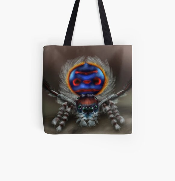 Peacock Spider All Over Print Tote Bag