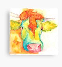 Susie, Watercolor Cow Canvas Print
