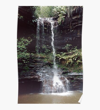 Blue Mountains Waterfall (This World) Poster