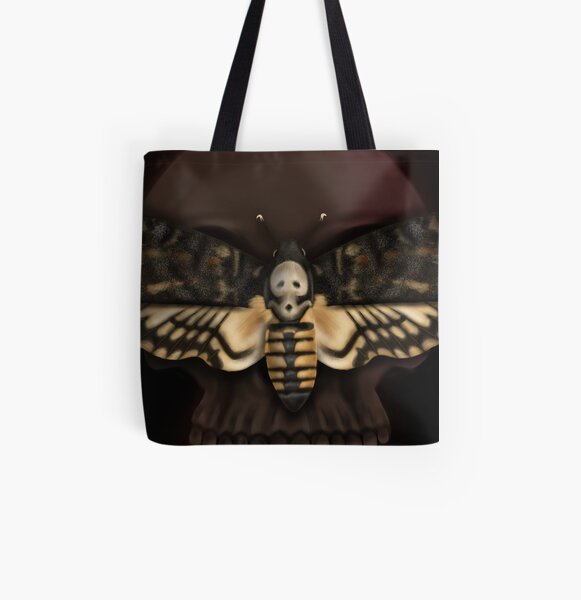 Death's Head All Over Print Tote Bag