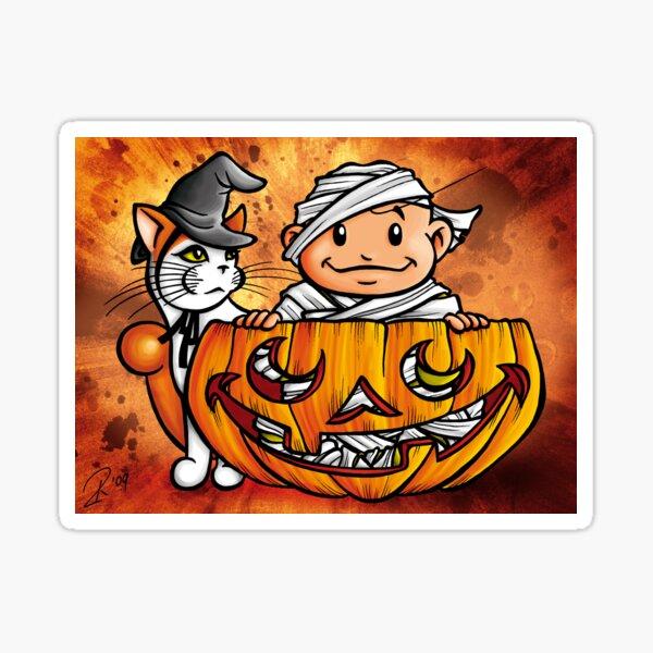 Peekaboo Pumpkin Sticker
