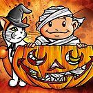 Peekaboo Pumpkin by deRoodtDesigns