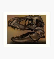 T. Rex Skull Art Print
