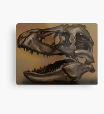 T. Rex Skull Metal Print