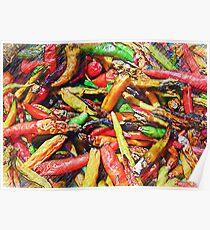 Chili's In Pencil Poster