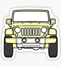 Gelber Jeep Sticker