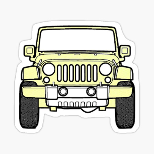Yellow Jeep Sticker