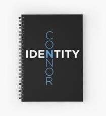 Connor Identity white on black Spiral Notebook