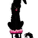Borzoi Princess Self Black by Happy Dog Swag