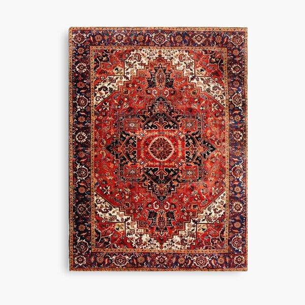 Heriz Antique Vintage Boho Persian Carpet Print Canvas Print