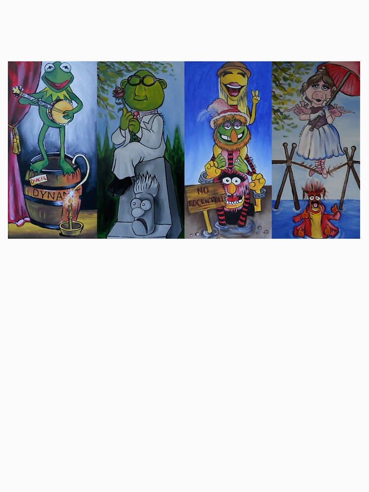 Muppets Haunted Mansion Stretching Room Portraits by lissyleem