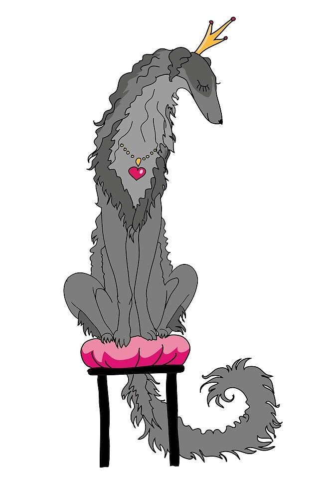 Borzoi Princess Grey by Happy Dog Swag
