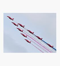 Red Arrows - 2015 Display Tails Photographic Print