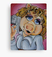 Miss Piggy, Professor River Song Canvas Print