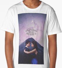 Damon and Elena - Delena - The Vampire Diaries Long T-Shirt