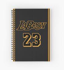 La Bron Jersey Script 4 Spiral Notebook