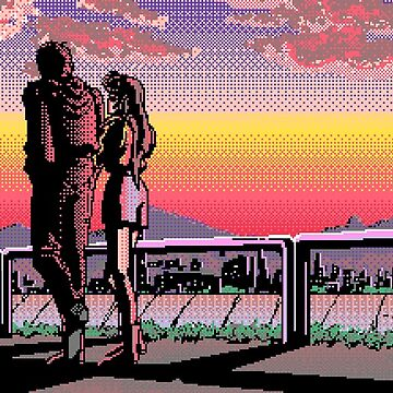 Pixel art couple aesthetic by youngweezing