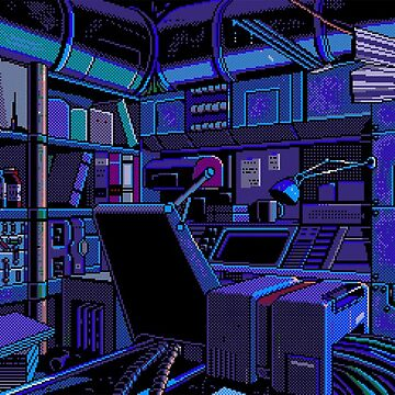 Pixel art aesthetic bedroom by youngweezing