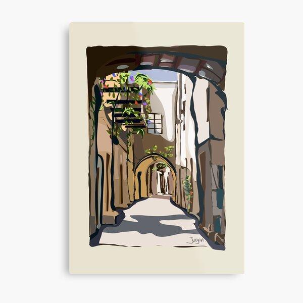 Greek street on Chios Metal Print