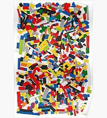 Viele bunte Spielzeug Bricks (Lego) Poster