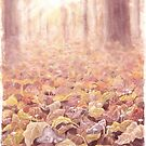 Sleeping in the leaves by Embla Granqvist