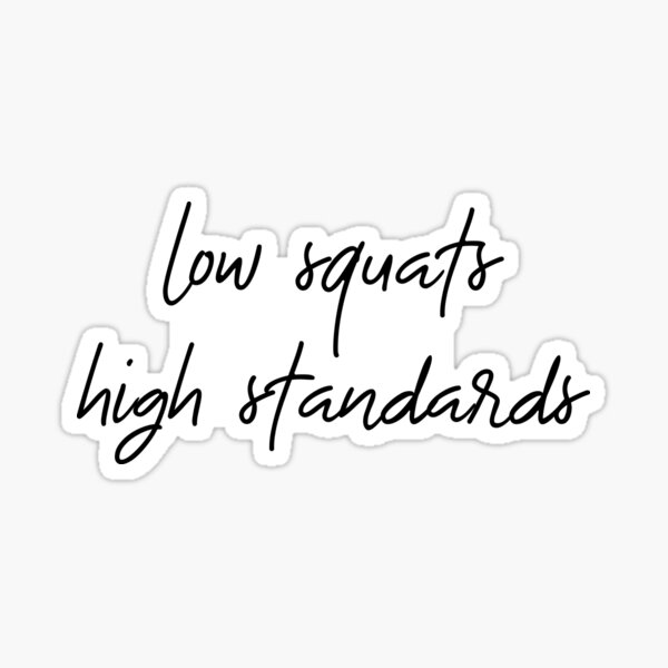 low squats high standards Sticker