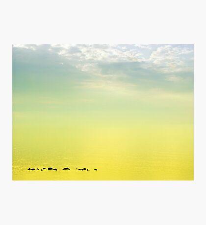 Zen seascape with rocks Photographic Print