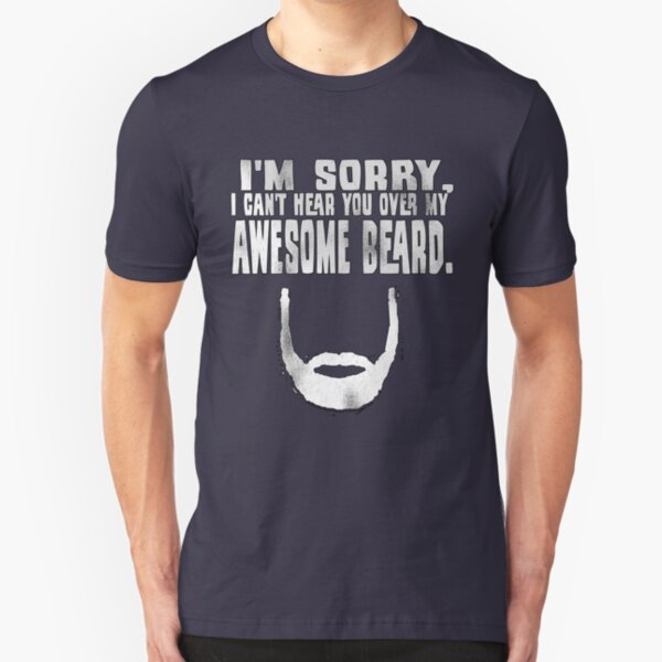 Awesome Beard Slim Fit T-Shirt