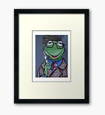 Kermit, Tenth Doctor Framed Print