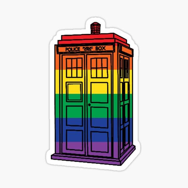Rainbow Tardis Sticker