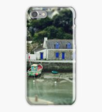 Port du Bono Brittany France - Tilt Shift Effect iPhone Case/Skin