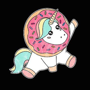 Donut Day Shirt Vintage Doughnut Magic Unicorn Sprinkle Gift by arnaldog
